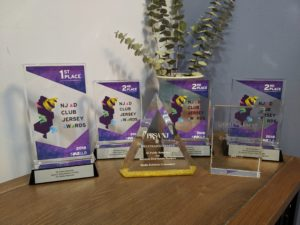 "alt=""3E Public Relations Awards on table"""