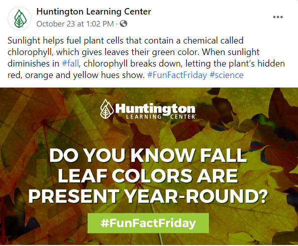 Huntington Learning Center Fun Fact Friday